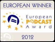 Banner de ganador del European Podcast Award 2012