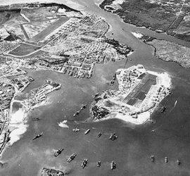 Vista aérea de Pearl Harbor